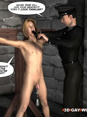 Sexy cartoons about a cop fucking a gay prisoner. - Picture 4