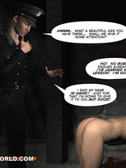 Sexy cartoons about a cop fucking a gay prisoner. - Picture 10