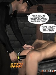 Sexy cartoons about a cop fucking a gay prisoner. - Picture 12