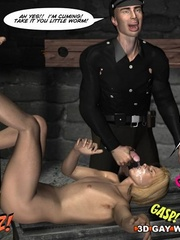 Sexy cartoons about a cop fucking a gay prisoner. - Picture 15