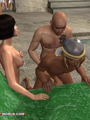 Free sex cartoons with two guys and a girl having - Picture 1