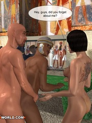Free sex cartoons with two guys and a girl having - Picture 3