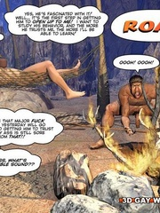Free cartoon sex between a caveman and a modern - Picture 2