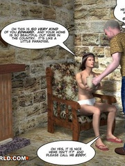 Huge cock being sucked by Edy in this free cartoon - Picture 5