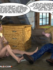 Huge cock being sucked by Edy in this free cartoon - Picture 13