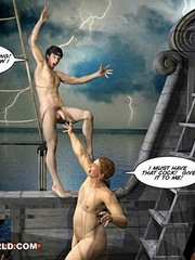 One good gay fuck at the sea in free sex cartoons. - Picture 10