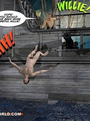 One good gay fuck at the sea in free sex cartoons. - Picture 11