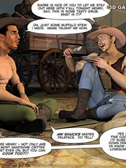 A good wild west gay ride in these gay male cartoons. - Picture 6