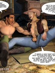 A good wild west gay ride in these gay male cartoons. - Picture 8