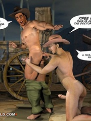 A good wild west gay ride in these gay male cartoons. - Picture 9