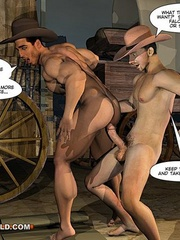 A good wild west gay ride in these gay male cartoons. - Picture 11