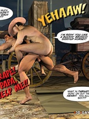 A good wild west gay ride in these gay male cartoons. - Picture 13