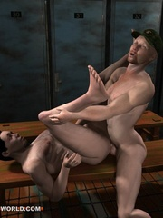 Hot fuck in the army in these adult cartoons. Tags: - Picture 15