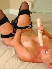 Nasty blonde wife taking off her black - XXX Dessert - Picture 13