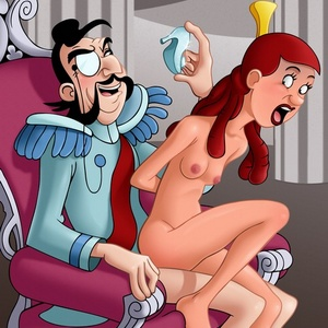 Cartoon cutie Cinderella is an object of dirty sexual - Picture 1