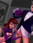 Horny toon Batgirl likes her face being cum…