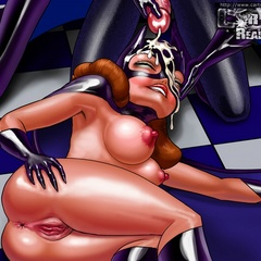 Horny toon Batgirl likes her face being cum covered. - Picture 2