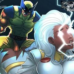 Cartoon X-Men babes enjoing huge pricks plowing their - Picture 1