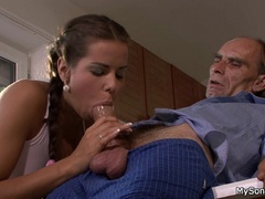 Older guy gets his dick sucked and fucked by - XXXonXXX - Pic 4