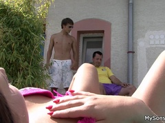 Young stud catches his hot gf going hard on his - XXXonXXX - Pic 4