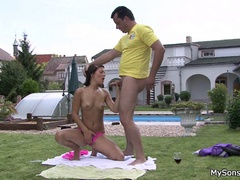 Young stud catches his hot gf going hard on his - XXXonXXX - Pic 10