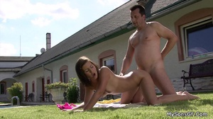 Young stud catches his hot gf going hard on his father's hard cock. Tags: Sexy bikini, old young, cock sucking, perky tits. - XXXonXXX - Pic 16