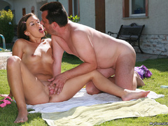 Juicy sunbathing teen girl gets seduced by her - XXXonXXX - Pic 8