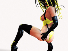 Seductive pics of 3d hotties in rubber outfits and - Picture 3