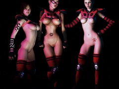 Check out 3d kinky nymphs in rubber body suits going - Picture 2