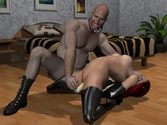 Sex starving 3d babes in latex going wild and showing - Picture 2