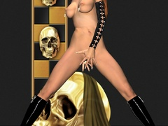 Latex dressed 3d stunners has nice big boobies and - Picture 5