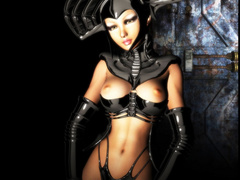 3d bimbos in latex body suits wanna you watch them - Picture 1