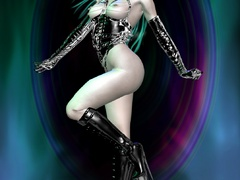 Perfect butt lusty 3d nymps in latex lingerie and - Picture 5