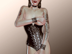 Awesome 3d pics of sex starving babes in latex outfit - Picture 1