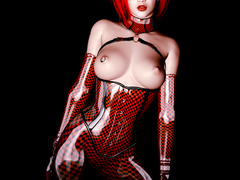 Latex dressed big boobed stunners going wild on these - Picture 6