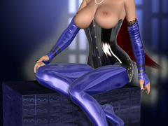 Fetish latex pics of gorgeous 3d cuties teasing in - Picture 5