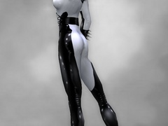3d nasty nymphs in color latex uniform looking so - Picture 3