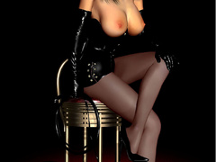Lusty 3d hottie in exclusive latex outfits are rel - Picture 3