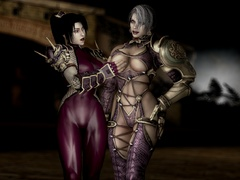 Naughty 3d bumbos in latex lingerie going wild while - Picture 1