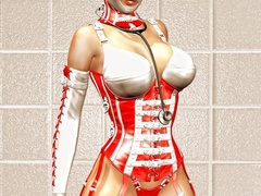 Naughty 3d bumbos in latex lingerie going wild while - Picture 3