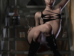 Naughty 3d bumbos in latex lingerie going wild while - Picture 6