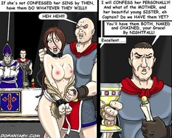 Collared brunette slave girl gets her - BDSM Art Collection - Pic 4