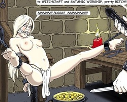 Collared brunette slave girl gets her - BDSM Art Collection - Pic 6