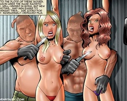 Blonde and redhead slave babes get - BDSM Art Collection - Pic 3