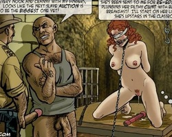 Shaved pussy captured girls gets taught - BDSM Art Collection - Pic 1