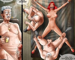 Perverted older men enjoying tight - BDSM Art Collection - Pic 6