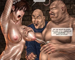 Sexy shaped bimbo gets captured and - BDSM Art Collection - Pic 5