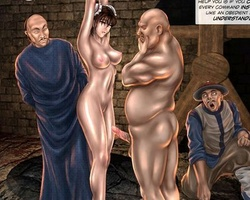 Sexy shaped bimbo gets captured and - BDSM Art Collection - Pic 6