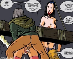 Two enslaved virgin hotties became fuck - BDSM Art Collection - Pic 1