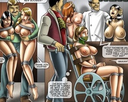 Sexy shaped enslaved bimbos get their - BDSM Art Collection - Pic 6